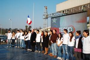 Ceremona de envío Chile